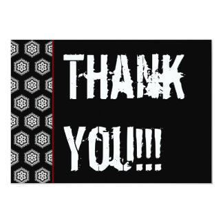 Thank You Surprise Party Black White Red V322 Card