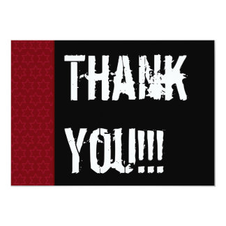 Thank You Surprise Year Red Black White W1978 5x7 Paper Invitation Card
