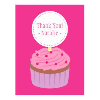 Thank You, Sweet Cupcake, Pink Postcard