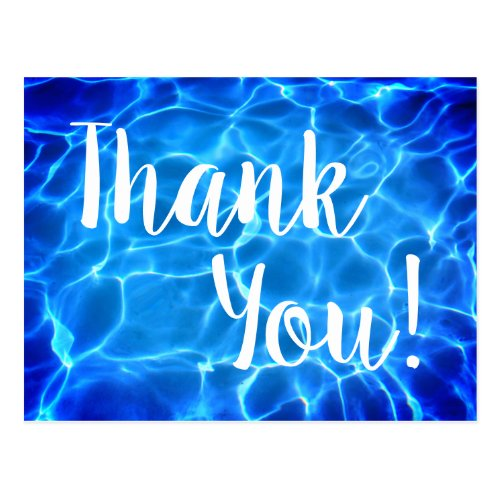 Thank You Swimming Pool Photo Postcard
