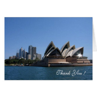 Thank You ! Sydney Opera House, Note Card