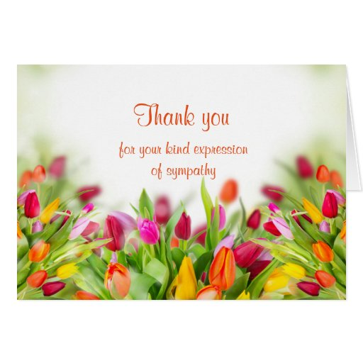 Thank you sympathy card zazzle for Thank you note for condolence gift