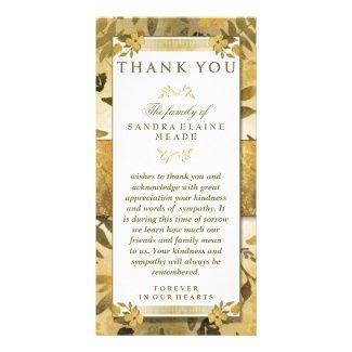 Thank You Sympathy Golden Floral Elegance
