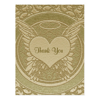 Thank You | Sympathy | Light Gold Postcard