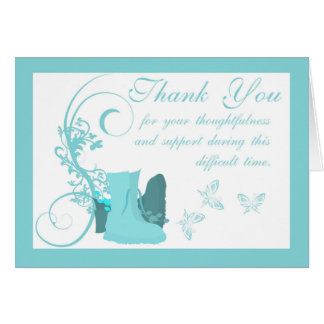 Thank You Sympathy ,Loss of Military Person, boots Card