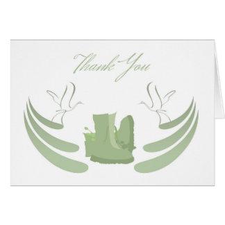 Thank You Sympathy , Loss of Military Serviceman Card