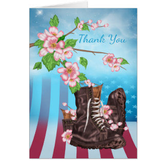Thank You Sympathy , Military Service person Card