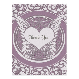Thank You | Sympathy | Pink Postcard