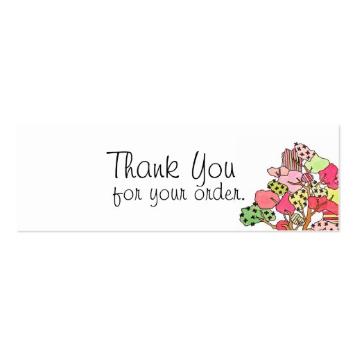 Thank You Tag Business Card Template Zazzle