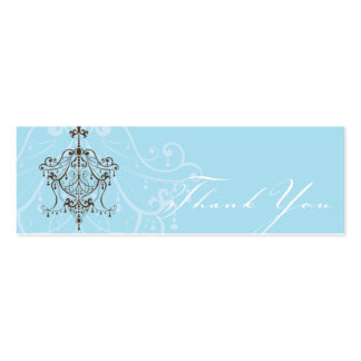 THANK YOU TAG :: chandelier Double-Sided Mini Business Cards (Pack Of 20)