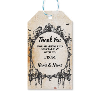 Thank you Tag Gothic Frame Favour Tags Wedding