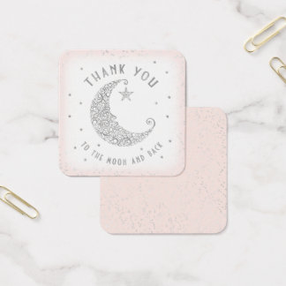 Thank You Tag Twinkle Little Star Baby Shower Pink