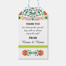 Thank you Tags Fiesta Mexican Print Lime Wedding
