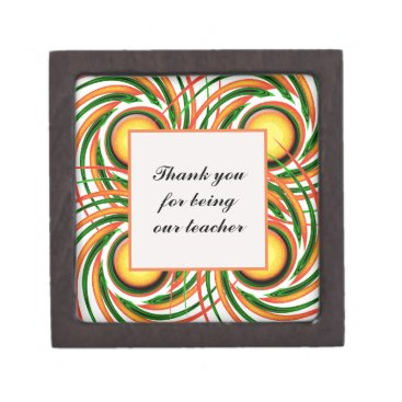 Thank You Teacher Appreciation Colorful Swirls Gift Box