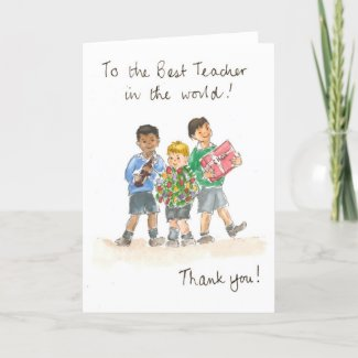 Thank You, Teacher Card