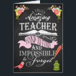 """Thank you teacher card appreciation week<br><div class=""""desc"""">Thank you teacher card appreciation week A truly amazing teacher is hard to find impossible to forget</div>"""