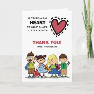 Teacher cards zazzle thank you teacher custom name greeting cards m4hsunfo