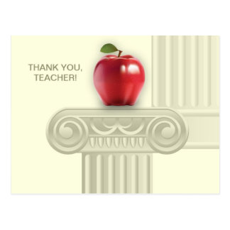 Thank You Teacher Customizable Postcards