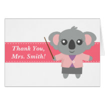 Thank You Teacher, Cute Koala Bear, Appreciation