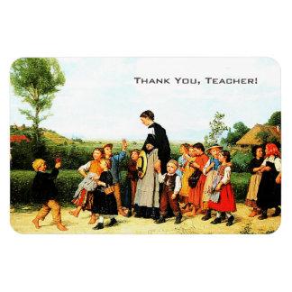 Thank You Teacher. Fine Art Gift Magnets