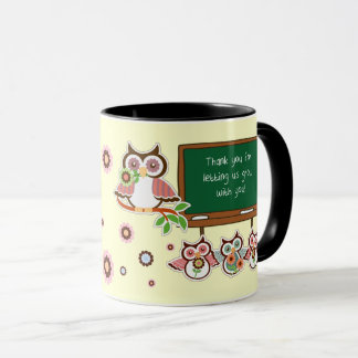 Thank You, Teacher. Funny Owls Custom Gift Mugs