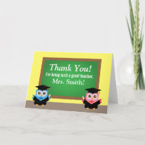 Thank you teacher, Graduation Farewell, Cute Owls