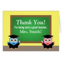Thank you teacher, Graduation Farewell, Cute Owls