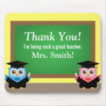 Thank you teacher, Graduation Farewell, Cute Owls Mouse Pad