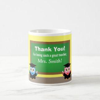Thank you teacher, Graduation Farewell, Cute Owls Coffee Mugs