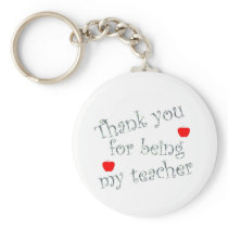 Thank you teacher keychain