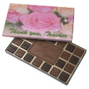 Thank you Teacher Pink Roses Chocolate Box 45 Piece Box Of Chocolates