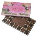 Thank you Teacher Pink Roses Chocolate Box 45 Piece Box Of Chocolates