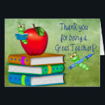 """Thank You Teacher -  School Items Card<br><div class=""""desc"""">Perfect card for your child to give their teacher at the end of the year expressing how they felt  having them for a teacher that year. CREDITS:Some graphics used under purchased commercial license and/or including TOU provided by Original graphics (c)Delightful-Doodles (original artwork&#169;delightful-doodles.com )  ***All Photography by (c) Trudy Wilkerson</div>"""
