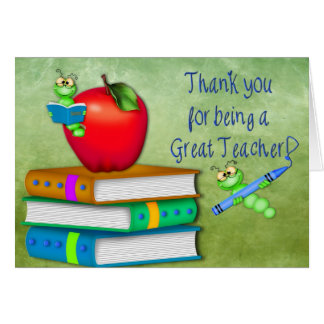 Thank You Teacher -  School Items Card