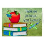 Thank You Teacher -  School Items Greeting Card