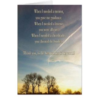 Thank You Teacher sunset sky Greeting Card