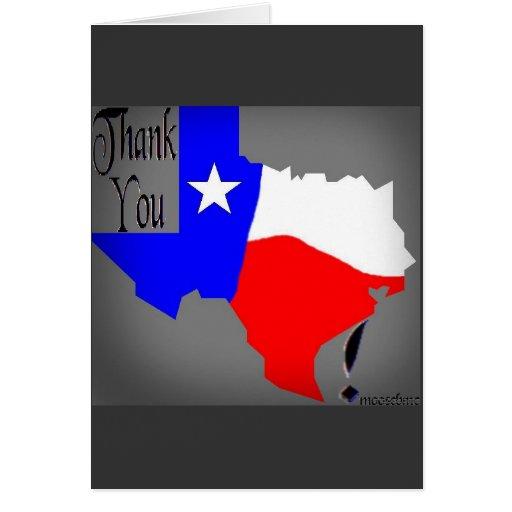 Thank You Texas card