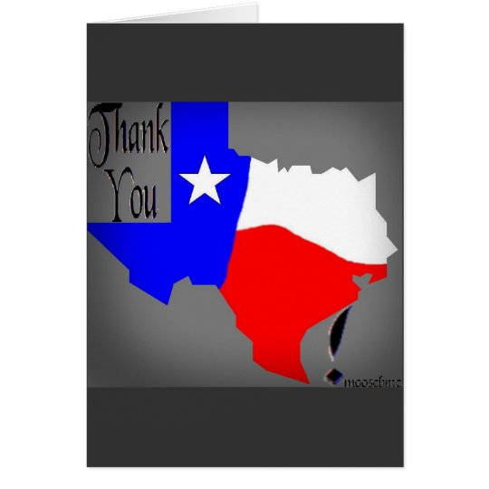 Thank You Texas card