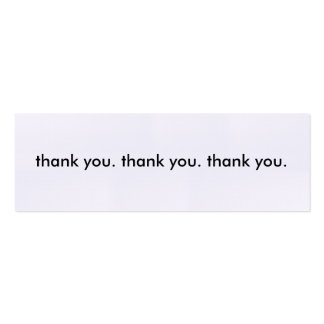 thank you. thank you. thank you. Double-Sided mini business cards (Pack of 20)