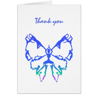 Thank you, Thanks, Yoga Poses Butterfly art Card