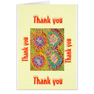 Thank you Thankyou Greeting Card