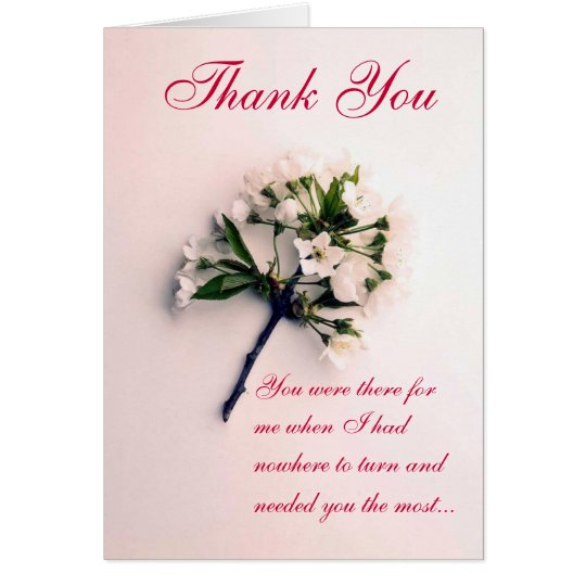 Thank You - There for me Card