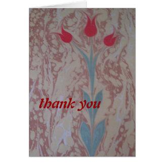 Thank you three tulip greeting card
