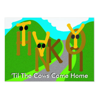 Thank You 'til the Cows Come Home Card