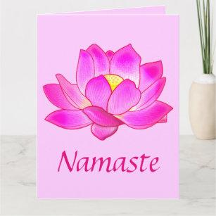Big lotus flower gifts on zazzle thank you to a yoga teacher lotus flower big card mightylinksfo