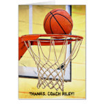 Thank You to Basketball Coach Card