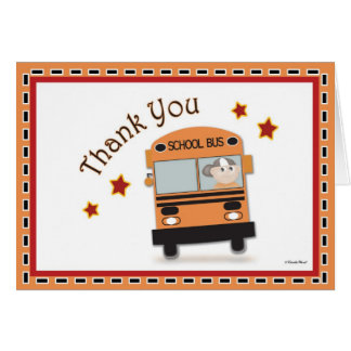 Thank You to Bus Driver Greeting Cards