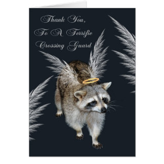 Thank You To Crossing Guard Greeting Card