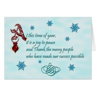 Thank you to customers at Christmas Cards