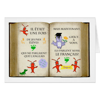 Thank you to French Teacher in French Greeting Card